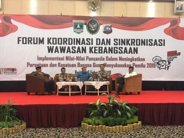 Sukseskan Pemilu 2019, Badan Kesbangpol Sumbar Fasilitasi Forum Koordinasi Wawasan Kebangsaan