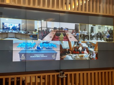 Persiapan Pilkada Serentak, Pemprov Sumbar Uji Videoconference